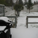 Our First Snowfall – Not Great for the House Build