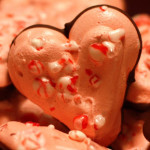 Meringue Heart Chocolate Dipped Cookies