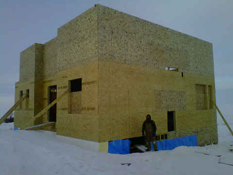 House Progress – Second Floor Walls Up!