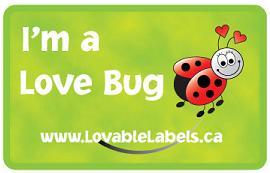 Loveable Labels – I'm a LoveBug