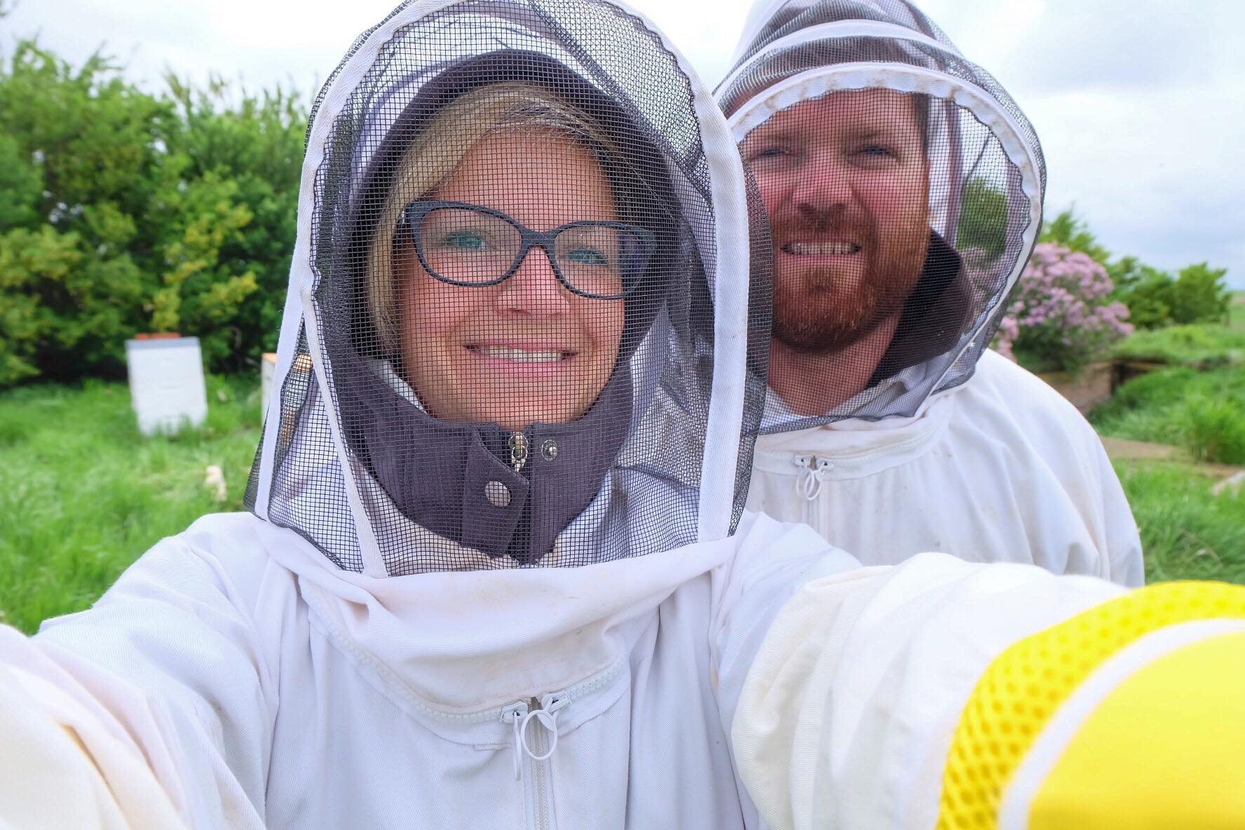 Beekeeping Couple // thislilpiglet.net