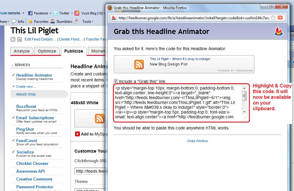 Feedburner headline Animator Code