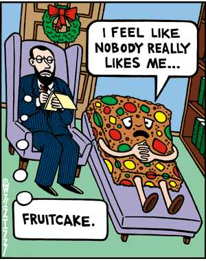 Image result for fruitcake cartoon nobody likes me
