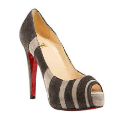 Christian Louboutin Chocolate Brown Striped Stiletto Heels Shoes Pinterest Style