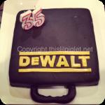 DeWalt Drill Case Fondant Cake