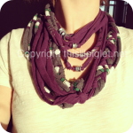 DIY Upcycled T-Shirt Scarf Tutorial