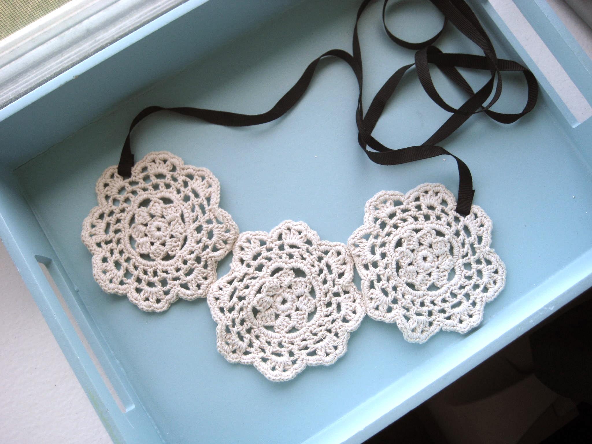 DIY Lace Necklace Tutorial