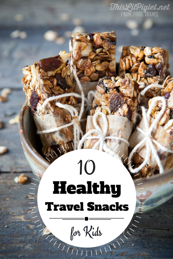 10 Healthy Travel Snacks for Kids // thislilpiglet.net