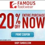 20% Off Famous Footwear