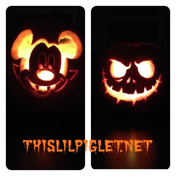 Pumpkin carving disney stencils templates this lil piglet for Mickey mouse vampire pumpkin template