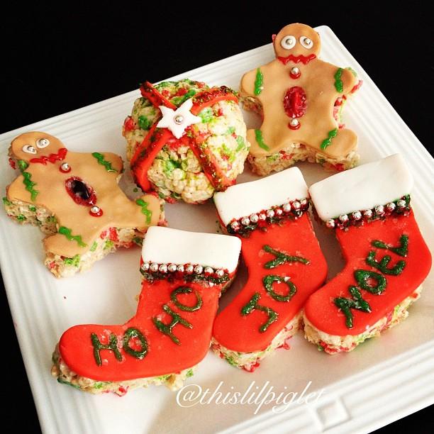 Rice Krispie Treats Ideas Christmas With #Kelloggers