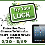Try Your Luck iPad2 Sweepstakes