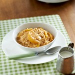 Slow Cooker Peaches n Cream Oatmeal by Minute Maid