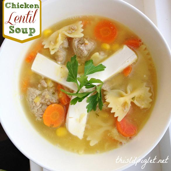 Ground Chicken Lentil Soup