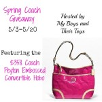Spring $358 Coach Handbag Giveaway US/CAN