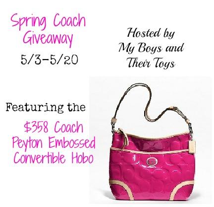 Coach Peyton Hobo Handbag Giveaway