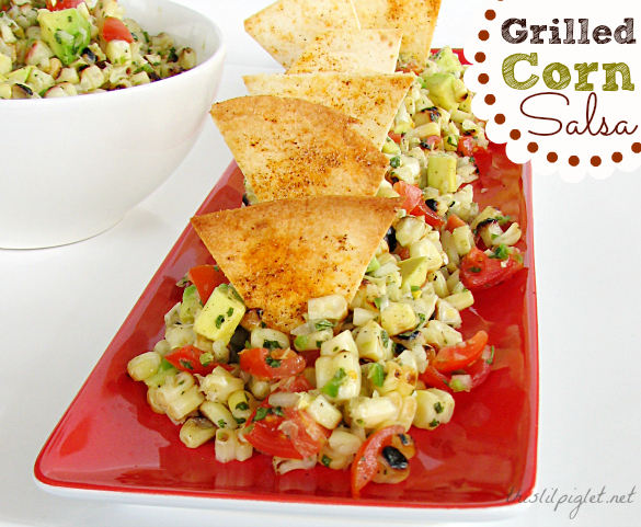 Grilled Corn Salsa Recipe with Avocado - This Lil Piglet
