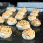 Stuffed Bacon Mushrooms