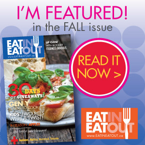 Eat In Eat Out Featured Blogger
