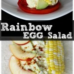 Rainbow Egg Salad Wrap