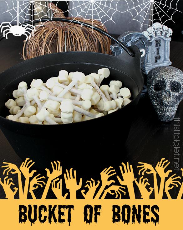 Bucket of Bones Halloween Treats