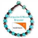 Turquoise & Wood Bracelet from World Vision #SJHolidayGiftGuide