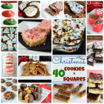 40 Christmas Cookies and Squares Round Up