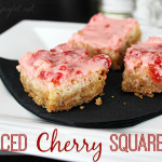 Iced Cherry Squares #ChristmasCookies
