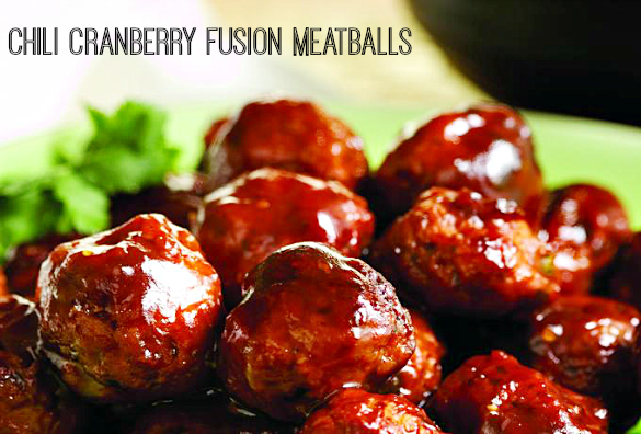 Chili Cranberry Fusion Meatballs and #ChickenDotCA Giveaway