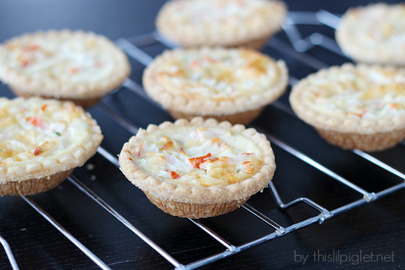 Crab Tartlets #HolidayAppetizers