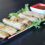 Ginger Pork Spring Rolls #HolidayAppetizers