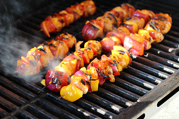 Spicy Hawaiian Skewers Grilling