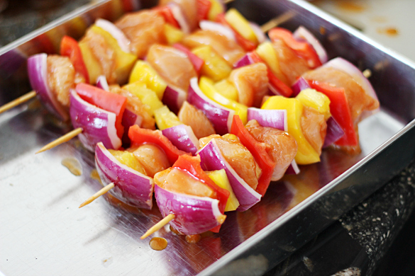 Spicy Hawaiian Skewers Assembly