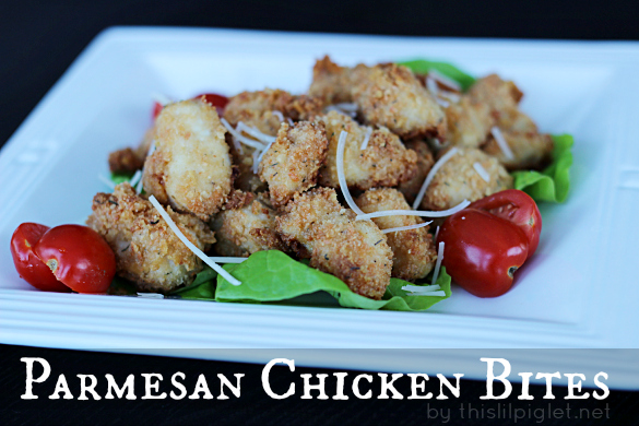 Parmesan Chicken Bites #HolidayAppetizers