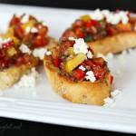 Sweet Pepper Bruschetta # HolidayAppetizers