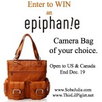 WIN a Stylish Camera Bag from Epiphanie #SJHolidayGiftGuide