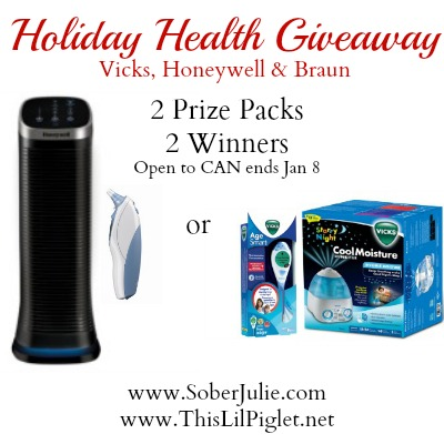Holiday Health Giveaway from Vicks, Honeywell and Braun #SJHolidayGiftGuide