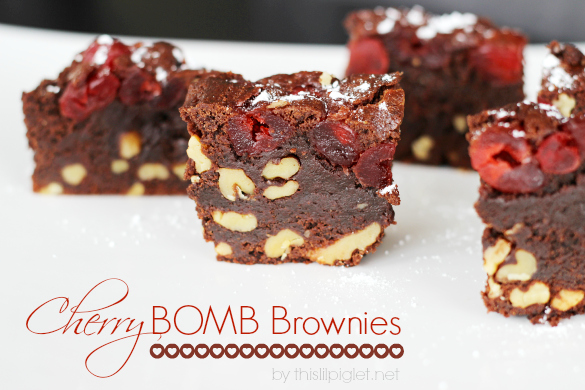 Cherry Bomb Brownies
