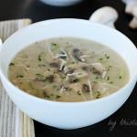 Skinny Coconut Cream of Mushroom Soup
