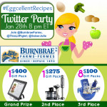 Talking Healthy Recipes  with #EggcellentRecipes Twitter Party Jan 28th