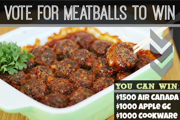 Sweet Chili Meatballs Giveaway