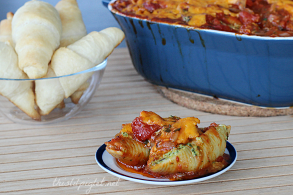 Spinach Cheese Stuffed Pasta Shells