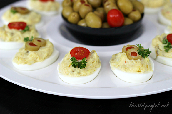 Devilled Eggs with a Twist // thislilpiglet.net