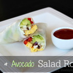 Egg and Avocado Salad Rolls