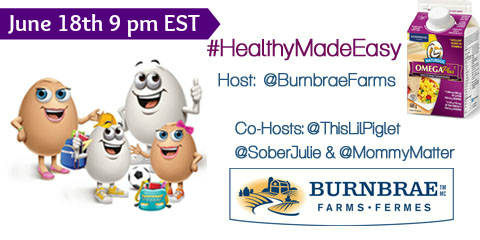 #HealthyMadeEasy @BurnbraeFarms Omega Plus Twitter Party