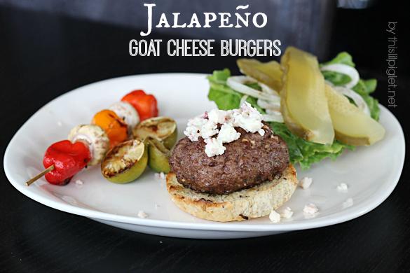 Jalapeño Goat Cheese Burgers