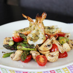 Lemon Garlic Butterfly Shrimp and Asparagus Salad