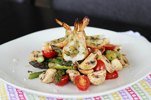 Lemon Garlic Shrimp Recipe With Asparagus Salad This Lil Piglet