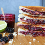 Honey-Lavender Blackberry and Feta Grilled Cheese Sandwiches