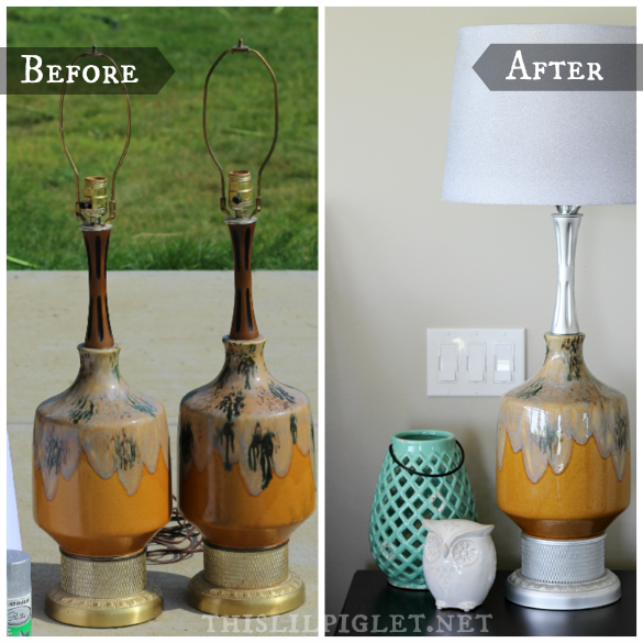 DIY Vintage Lamps to Glamorous #UsedHelps